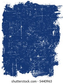 Grunge elements - Blue Grunge Square -  Highly Detailed vector grunge element