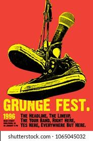 Grunge Festival Flyer Poster Template