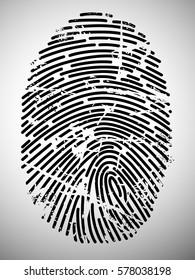 Grunge finger print