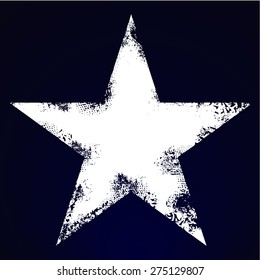 Grunge five pointed star