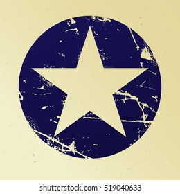 Grunge five pointed star
