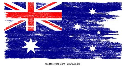 Grunge flag of Australia.Australian flag vector illustration.
