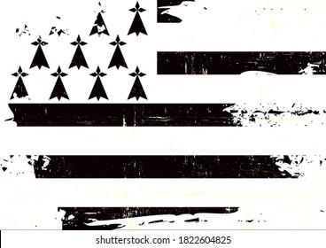 Un drapeau grunge de Bretagne pour vous
