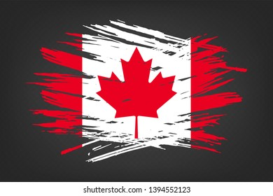 aa35a6619 Grunge flag of Canada. Vector illustration of a grunge texture on a  transparent background.