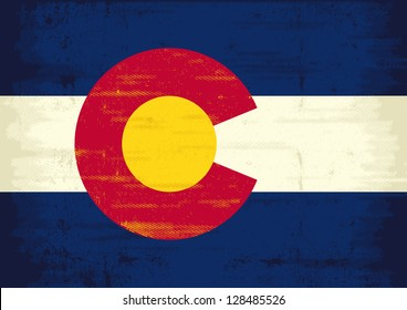 Grunge Flag of Colorado. The flag of Colorado with a texture for you. Enjoy !
