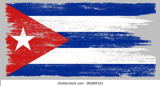 Grunge flag of Cuba.Cuba flag vector illustration.