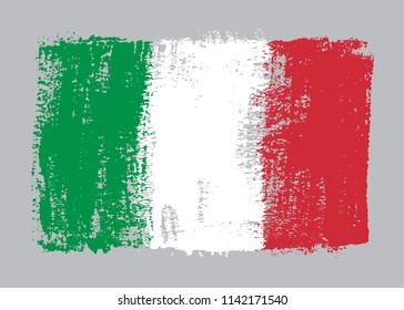 Grunge flag of Italy.Vector Italian flag.