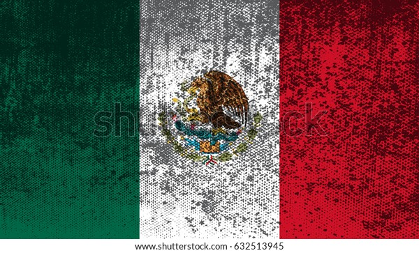 Grunge flag of Mexico.