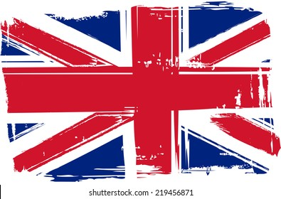 Grunge flag of the United Kingdom for your design