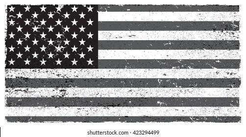 Grunge flag of USA.Vector American flag.