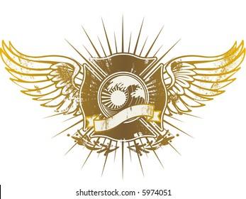 Grunge flying shield