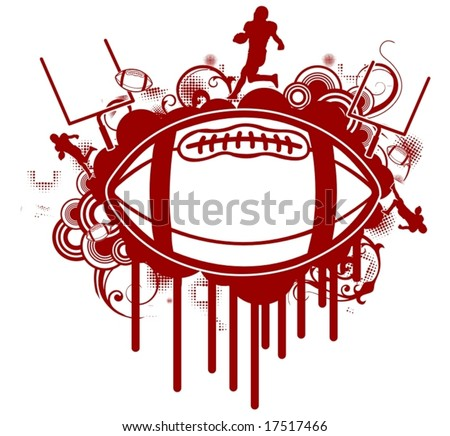 Grunge Football T Shirt Design Stock Vector Royalty Free 17517466