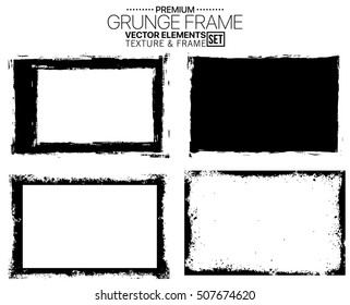 Grunge frame set - abstract texture. Stock vector design template - easy to use