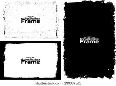 Grunge frame set texture - Abstract design template. Stock vector set - easy to use