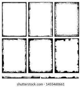 Grunge frame set. vector template