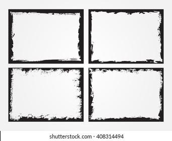 Grunge Frame Set.Grunge Backgrounds.Vector Distress Frames.