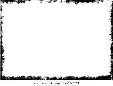 Grunge frame, vector illustration