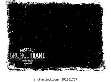 Grunge frame. vector template