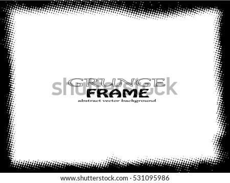 grunge frame vector template のベクター画像素材 ロイヤリティフリー