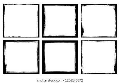 Grunge frame.Distress background.Abstract vector template.