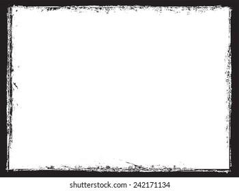 Grunge frame.Distress frame.Vector template.