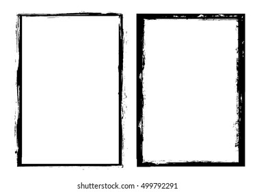 Grunge frame.Grunge background.Abstract vector template.