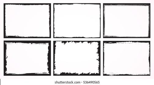 Grunge frames set.Abstract vector template.