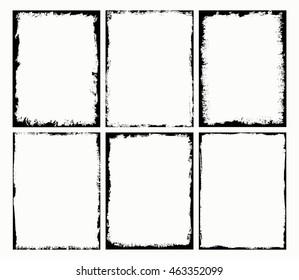 Grunge Frames Set.Grunge Border Frame.Vector Illustration.