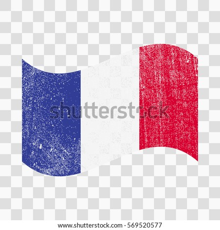 Grunge France Flag French Flag Distress Stock Vector (Royalty Free ...