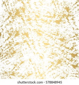Grunge gold texture paint splashes background vector