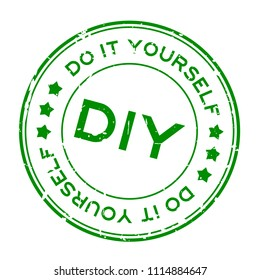 Do it yourself images stock photos vectors shutterstock grunge green diy word abbreviation of do it yourself round rubber seal stamp on solutioingenieria Gallery