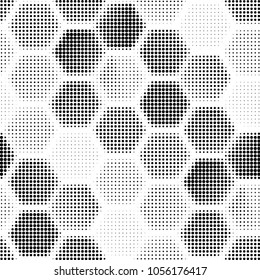 Grunge halftone black and white dots texture background. Spotted vector Abstract Texture