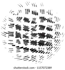 Grunge halftone black and white line texture background. Abstract spotted vector illustration Texture