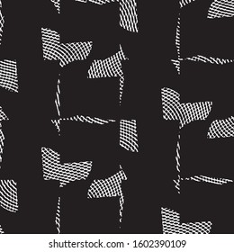 Grunge halftone black and white line texture background. Abstract stripe vector illustration Texture