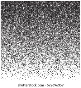 Grunge halftone dots vector texture background. Grunge abstract half tone dotted texture. Monochrome graphic for print, dtp or presentation. Vintage style design