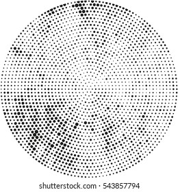 Grunge halftone vector background. Halftone dots vector texture. Black and white abstract backdrop.