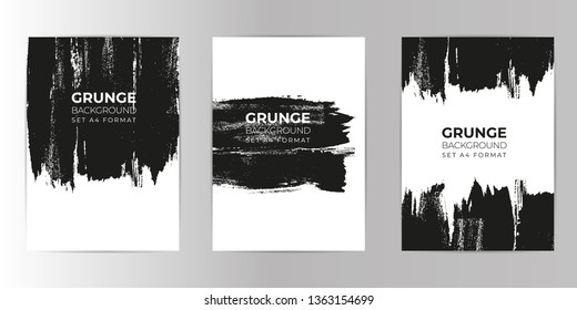 Grunge hand drawn background set A4 format. Watercolor Texture background.