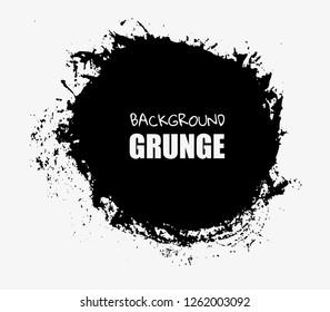 Grunge hand drawn round shape