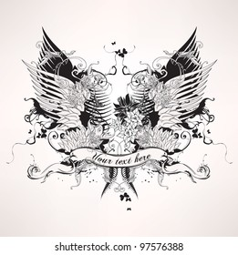 Grunge heraldic vintage design