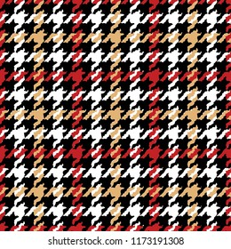 Grunge houndstooth pied de poule wallpaper, abstract vector seamless pattern for fabric card paper print
