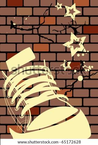Grunge illustration of a