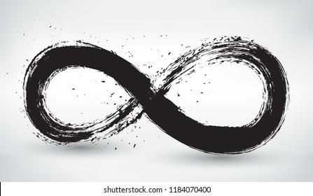Grunge infinity symbol.Vector infinity logo.