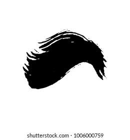 Grunge ink brush strokes. Freehand wave black brushes set. Handdrawn dry brush black smears. Modern vector illustration.