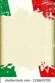 A grunge italan background with a large frame for your message