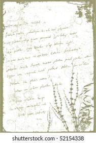 grunge letter