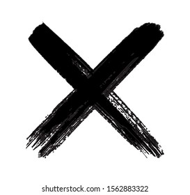 Grunge letter x .Dirty cross sign.