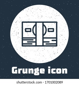 Grunge line Stacks paper money cash icon isolated on grey background. Money banknotes stacks. Bill currency. Monochrome vintage drawing. Vector Illustration