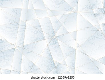 Grunge marble low poly texture abstract tech background. Vector design