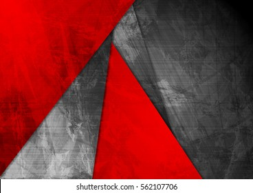 Grunge material contrast red black corporate texture background. Vector illustration