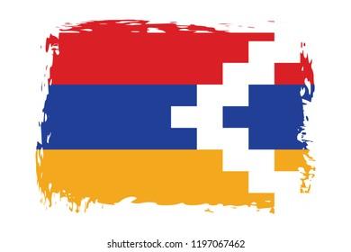 Grunge Nagorno Karabakh flag.flag of Nagorno Karabakh,banner vector illustration. Vector illustration eps10.